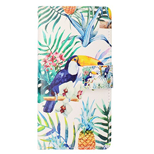 iPhone SE Leather Case,iPhone 5S Flip Wallet Case,iPhone SE Cover,Colorful Cool Cute 3D Animal Floral Flowers Pattern Leather Stand Function Flip Kickstand Magnetic Book Wallet with Card Slot Holder Protective Cover Case for iPhone 5S/SE/5