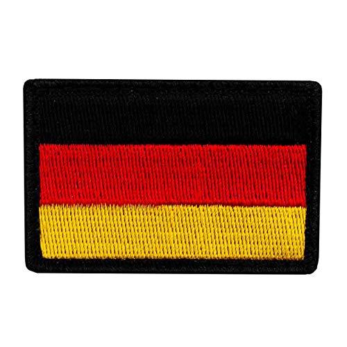 Café Viereck ® Bundeswehr Deutschland Flaggen Patch Gestickt mit Klett - 6 cm x 4 cm