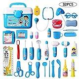DigHealth 32 Stück Kinder Arztkoffer Spielzeug,Doktorkoffer zum Rollenspiel,Arzt Medizinisches Spielset Spielzeug Kinder,Arzt Set Kinder ab 3 Jahren