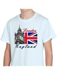 London England Big Ben Tower White Mens T-Shirt