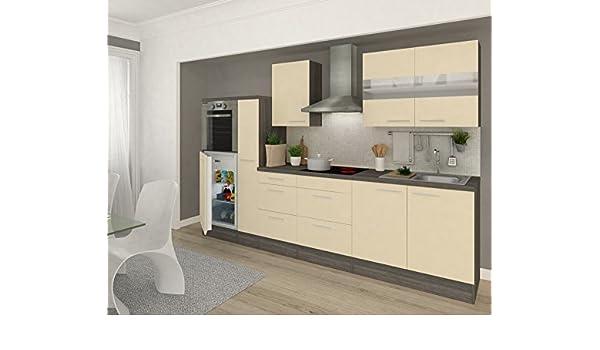 Arredamento respekta Cucina in Blocco 300 cm Rovere Grigio ...
