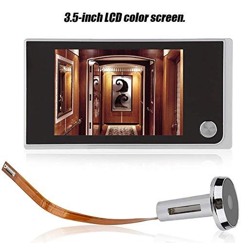 """Mugast Cámara electrónica Ojo de Gato, Pantalla LCD Digital de 3.5"""", Mirilla a 120 Grados, monitorización Visual con Foto del navegador, Sensor de Imagen en Color HD Industrial OV"""