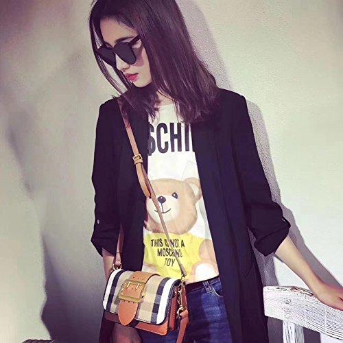 Mode Féminine Épaule Transversale Croisée Main Porter Sac de Téléphone Portable Plus de Compartiment , marron