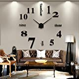 - Lifeup -Reloj de pared con espléndido efecto espejo 3D y números adhesivos individuales. Estupendo artículo de decoración para hogares, salones, dormitorios, oficinas y tiendas. Idea original para regalar a amigos, tanto a hombre como mujer, por ejemplo en bodas
