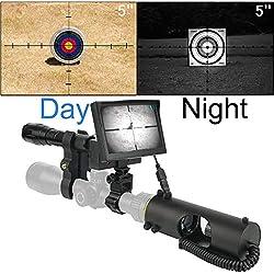 SIHEE Lunette de Vision Nocturne numérique DIY pour la Chasse au Fusil avec caméra HD et écran Portable