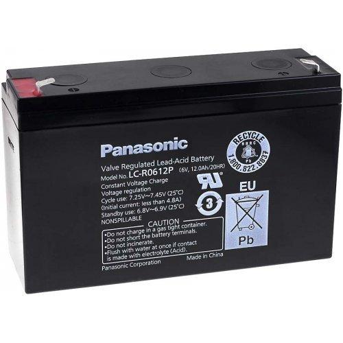 Panasonic Bleiakku LC-R0612P, 6V, Lead-Acid Panasonic Akku 6
