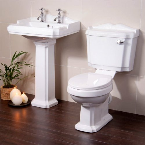 Better Bathrooms - Set di sanitari da bagno composto da: WC con ...