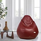 Sattva Classic XXL Bean Bag Filled (with Beans) Dual Colour - Maroon