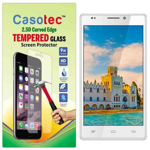 Casotec 2.5D Curved Edge Tempered Glass Screen Protector for Intex Aqua Power HD  available at amazon for Rs.125