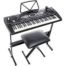 Alesis Melody 61 Tastiera Elettronica Portatile con 61 Tasti, 200 Suoni, Altoparlanti Stereo Integrati, Sgabello, Stand, Cuffie e Microfono