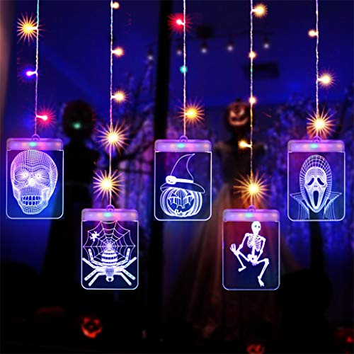 Lichterketten, Chshe TM, Halloween Deko-HäNgelampen Usb Led Nachtlicht 3D Acryl Sign Light Home Decoration Requisiten Nachtlampen(B)