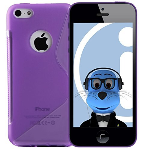 iTALKonline Apple iPhone 5C (2013) Lila TPU S Line Wave Hybrid Gel Skin Case Schutz Jelly Abdeckung Line Wave Tpu Case