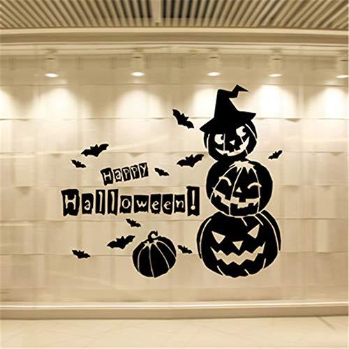 3D Wandaufkleber Wandaufkleber Halloween Kürbis Fledermaus Wandaufkleber geschnitzt Pvc entfernbare Fenster Hintergrund Aufkleber