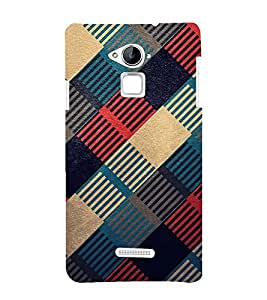 Multicoloured Check Pattern 3D Hard Polycarbonate Designer Back Case Cover for Coolpad Note 3