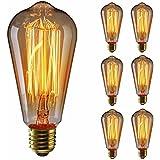 KINGSO 6pcs ST64 Vintage lampadina con gabbia filamento, 60W Dimmerabile Edison Lampadina Retrò ...