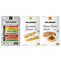 Fric Bergen Sandwich Spread, Pizza Pasta Sauce and Assorted Pack (Pack of 3)