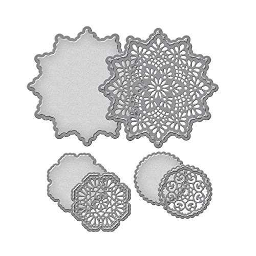 Unbekannt Shapeabilities Spellbinder-Schablonen Papier Arts Zarte Deckchen sterben - 1 Schablone Richtung