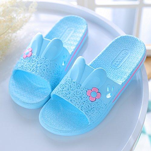 DogHaccd pantofole,Il bagno pantofole estate maschio e femmina indoor anti-slittamento estate spesso le coppie soggiorno-cool Home in plastica ciabatte da bagno Blu cielo2