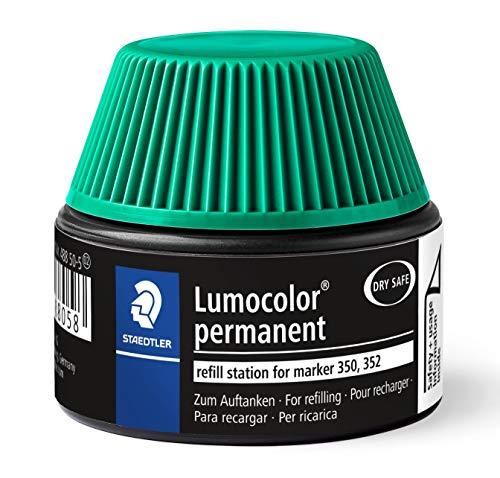 Staedtler 488 50 Lumocolor permanent marker Nachfüllstation grün für 350/352, 15-20x Nachfüllen, grün - 350 Tinte
