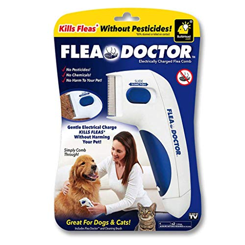 Flea Doctor | Electronic Flea Comb | Electric Comb | Electric Comb for Pets, Dogs, Cats | Without Pesticides | Naturally Kill Tick and Remove Fleas