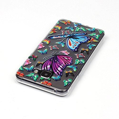 Meet de Téléphone Case pour Apple iphone 5S / iphone SE, Apple iphone 5S / iphone SE Bumper Case, Apple iPhone 5S / iphone SE Slim TPU Transparent Silicone - Papillon unique papillon Fit