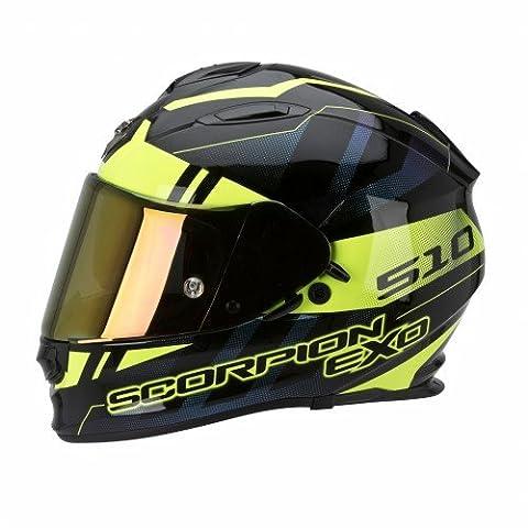 Scorpion Casque de Moto EXO-510 AIR STAGE, Noir/Jaune, Taille XL