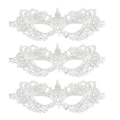 Reine Mardi Gras Costumes Sexy - Kicode Masque des yeux Femmes Sexy blanc