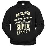getshirts - RAHMENLOS® Geschenke - Hoodie - Superkraefte Bestatterin - schwarz XXL