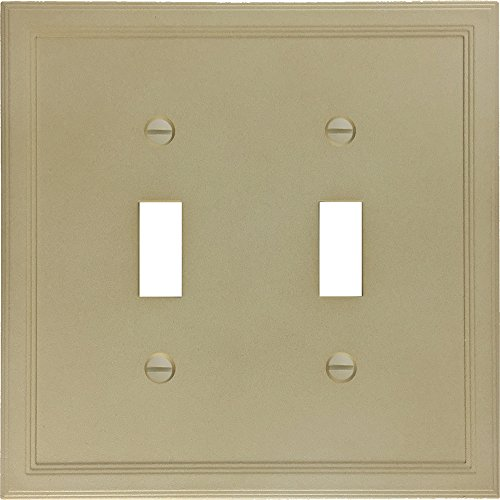 Double Switch Wall Plate (questech Gesims isoliert Dekorative Switch Plate/-Cover-Hergestellt in den USA Double Toggle sandstein)