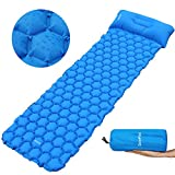 Deeplee Camping Mat, Inflatable Sleeping mat with interconnected Pillow,Ultralight Sleeping Pad for Outdoor