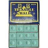 Triangle Billiard Snooker Pool Chalk 12 Pcs Green