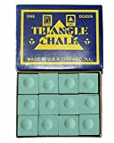 #4: 147 Triangle Billiard Snooker Pool Chalk 12 Pcs Green