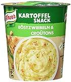 Knorr Snack Bar Kartoffel Snack Röstzwiebeln & Croûtons 1 Portion (8 x 53 g)