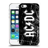 Head Case Designs Offizielle AC/DC ACDC Weiss Grunge Logo Soft Gel Hülle für iPhone 5 iPhone 5s iPhone SE