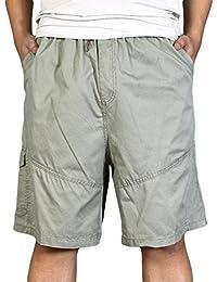 85fcd2e5362d Heheja Herren Cargo Shorts Knielang Männer Kurze Hose Baumwolle Bermuda