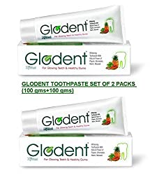 GLODENT - Natural Tooth Whitening Toothpaste 100gms by GPL (Set of 2 Packs)