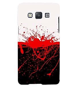 PrintVisa White And Red Mixture 3D Hard Polycarbonate Designer Back Case Cover for Samsung Galaxy A3 (2015) :: Samsung Galaxy A3 Duos :: Samsung Galaxy A3 A300F A300FU A300F/DS A300G/DS A300H/DS A300M/DS