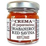 Chili Paste HABANERO RED SAVINA - schmackhaft, duftend, dieder Stärkste der habanero Sorte MITTEL SCHARF 30g sauce, creme