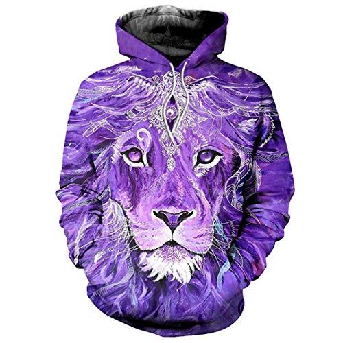 Okri-ONe 3D Print M?nner Frauen Lion Lamb Schwarz Wei? Streetwear Trainingsanzüge Pullover 26 ()