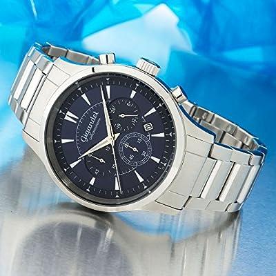 Gigandet Brilliance Reloj de Hombre Cronógrafo Analógico Cuarzo Correa de Acero Plata Azul G48-004 de Gigandet