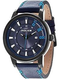 INTELIHANCE. 14375JSB/03 - Reloj para hombres, correa de cuero color azul