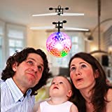 Etpark RC Flying Ball Crystal Flashing LED Light Flying ball RC Toy RC infrared Induction Helicopter for Kids, Teenagers Colorful Flyings for Kid's Toy(Classic Transparent No Remote Control)