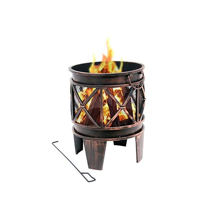Bbq Toro Feuerkorb Plum Feuerkorb Feuerstelle 42 X 42 X 525 Cm Feuerschale In Antik Optik