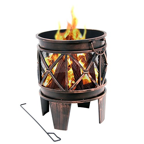 feurschale BBQ-Toro Feuerkorb Plum | Ø 42 x 52,5 cm | Feuerschale in Antik-Rost-Optik, Garten Feuerstelle