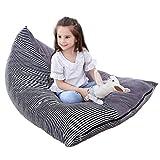 Spielzeug Aufbewahrung Sitzsack, Bett für Spielzeug, Gemütliches Sofa, 100% Baumwolle 200L Große Ausgestopftes Tier Speicher Stuhl Aufbewahrungstasche Sitzsack für Kinder, Jugendliche und Erwachsene