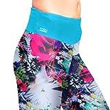 Formbelt® Damen Laufhose mit Hüfttasche für Smartphone, Schlüssel, Geld (Blumenmuster) - 5