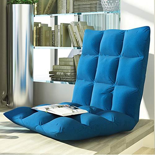 Boden Gaming Sofa Stuhl, verstellbare Klapp Lazy Soft Cushion Couch Recliner Faltbare Tatami, Boden Stuhl Home Essential Sofa,Blau,105 * 52 * 10cm