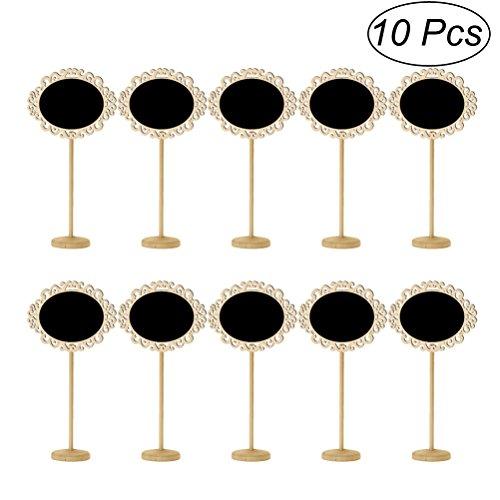 ULTNICE 10pc Holztafel Mini Tafel Zeichen Hochzeit Tisch Dekorative Accessoires