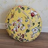 YILIAN Zuodian Coussin de futon Grand et Pur, fabriqué à la Main, Coussin en Lin de Style Japonais Coussin de méditation cérémonie du thé Nordique de Style Japonais