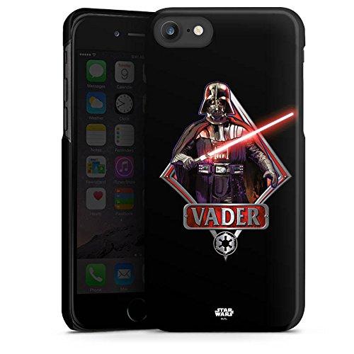 Apple iPhone SE Hülle Case Handyhülle Star Wars Merchandise Fanartikel Darth Vader Lichtschwert Hard Case schwarz